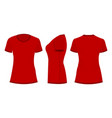red womans t-shirt vector image vector image