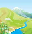 river hills vector image