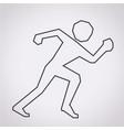 running sport icon vector image