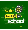 Sale banner back to school vector image vector image