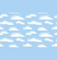 seamless texture of white clouds with watercolor vector image