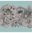 Seamless vintage flower border vector image vector image