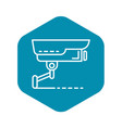 security camera icon outline style vector image vector image