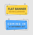 set flat geometric banners vector image vector image