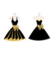 set of dresses on hangers vector image vector image