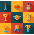 Set of flat awards icons vector image vector image