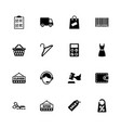 shopping - flat icons vector image vector image