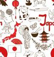 Sketch Japan seamless pattern vector image vector image