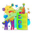 social people group working on online task vector image
