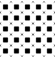 Square and star black seamless pattern vector image