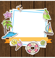 Summer decorative background vector image vector image