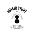 violin in beams music store logo vector image