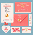 wedding invitation save date anniversary couple vector image