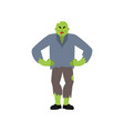 zombie angry living dead evil undead aggressive vector image vector image