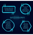 Block quote and pull design elements vector image