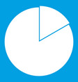 business pie chart icon white vector image