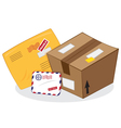 postal services package yellow envelope letter vector image