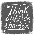 Think outside the box - design element vector image