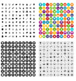 100 forest icons set variant vector image vector image