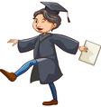 A happy man graduating vector image vector image