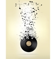 Abstract music background with notes vector image vector image