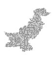 abstract schematic map of pakistan from the black vector image vector image