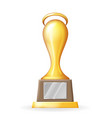 award cup victory prize realistic 3d trophy icons vector image vector image