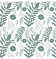 beautiful gray floral pattern background vector image vector image