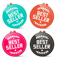 Best Seller Circle Medals Retro Set Isolated on vector image vector image