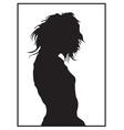 Black woman cartoon vector image vector image
