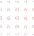 cake icon pattern seamless white background vector image vector image