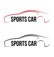 Calligraphic sport car logo vector image vector image