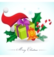 Christmas background with gifts and elements vector image vector image