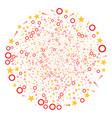 confetti stars fireworks sphere vector image vector image