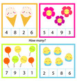 counting educational children game mathematics vector image vector image