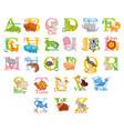 cute animal alphabet vector image vector image