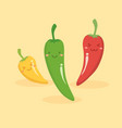cute chili pepper vegetable mascot vector image