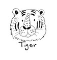 cute tiger for t-shirt design vector image vector image