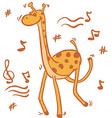 dancing giraffe vector image vector image