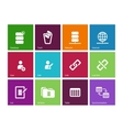 Database icons on color background vector image