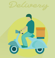 Delivery transport moto bike motorcycle vector image vector image