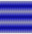 Design seamless blue horizontal knitted pattern vector image vector image