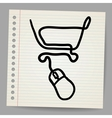 doodle online shopping vector image