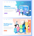 effective marketing strategies scaling business vector image