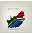 Flag of South African Republic to a country vector image vector image