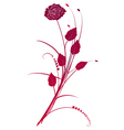 Floral background red roses bouquet vector image vector image