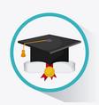 graduation cap graduate university icon vector image vector image