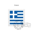 Greece Flag Postage Stamp vector image vector image