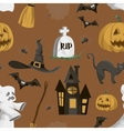 Halloween set pattern vector image
