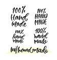 hand lettering calligraphy label for hand made vector image vector image
